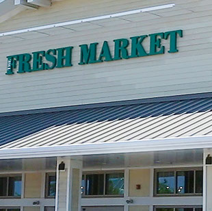 Fresh Market near Seascape at Weymouth
