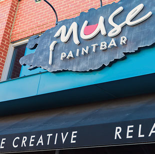 Muse Paintbar near Seascape at Weymouth